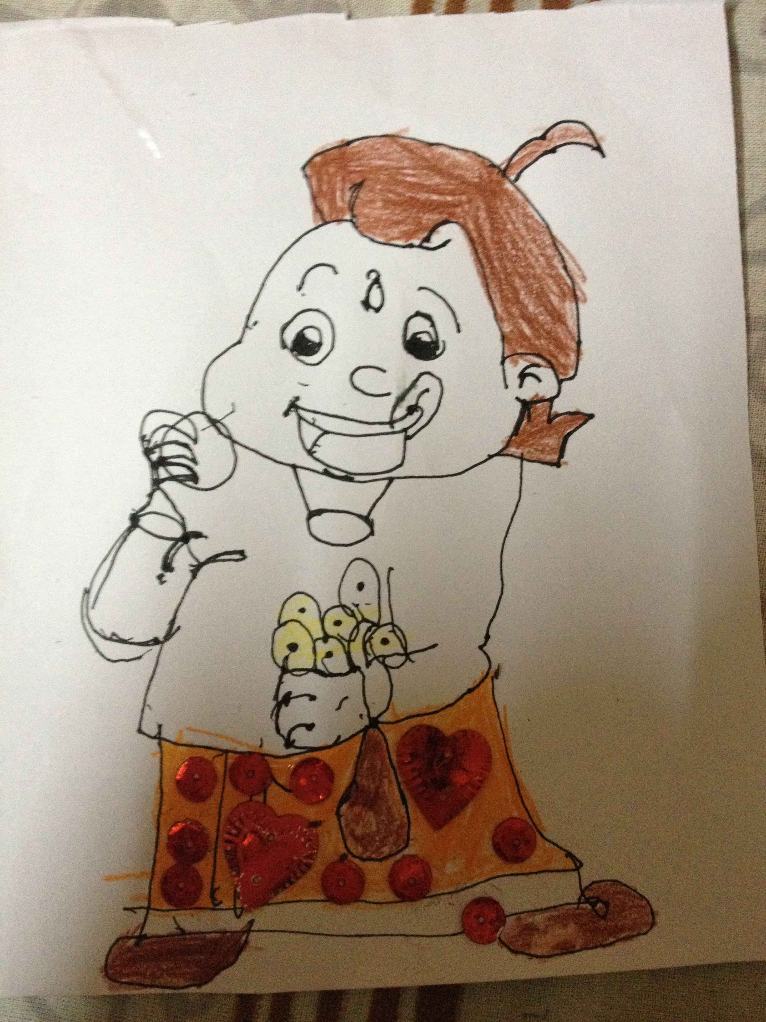 choota bheem dhanya s drawings pinterest