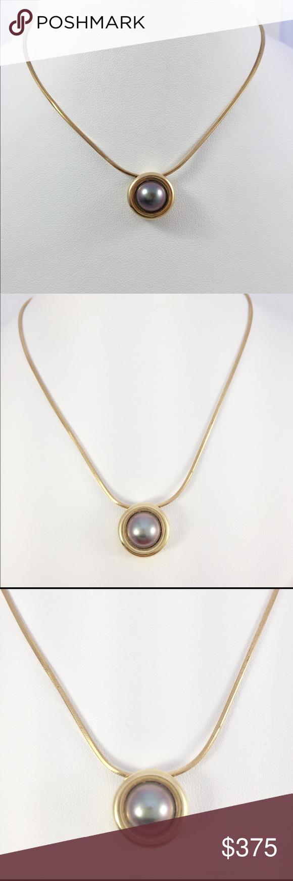 Nwt kt yg necklace heavy tahitian pearl pendant nwt tahitian