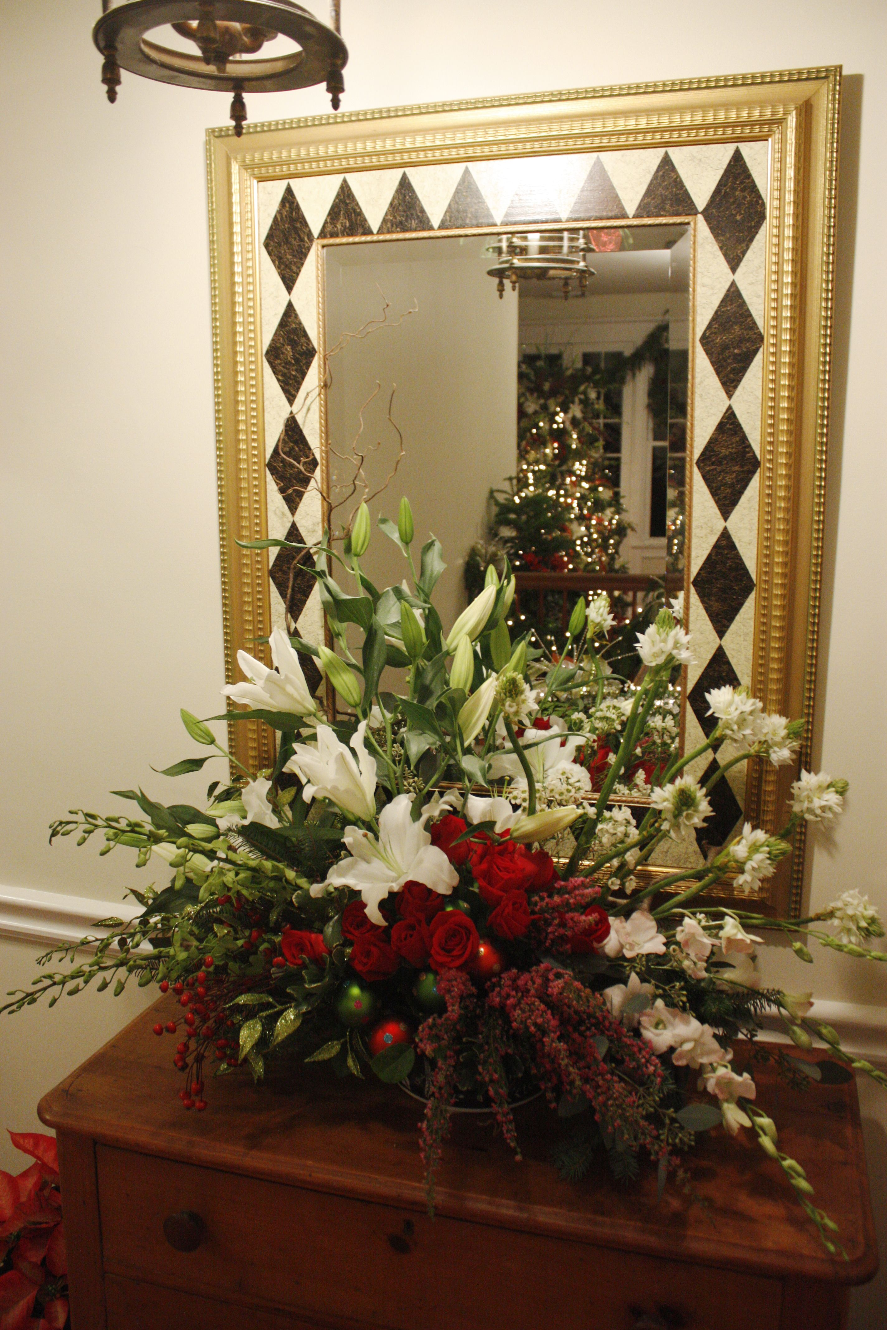 christmas flower centerpieces