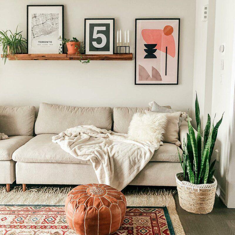 Shop The Look Bohemian Living Room Design Living Room Designs Tan Couch Living Room Couch Decor