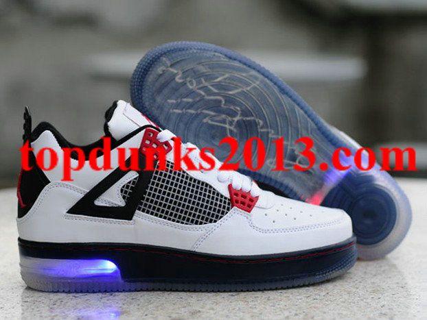 b556ad93632a7a Cheap Glow In The Dark Jordan 4 Light Up Black White Free Shipping ...