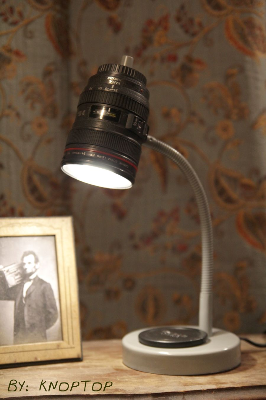 Wonderful Homemade Camera Lens Lamp. DIY Canon Amazing Pictures
