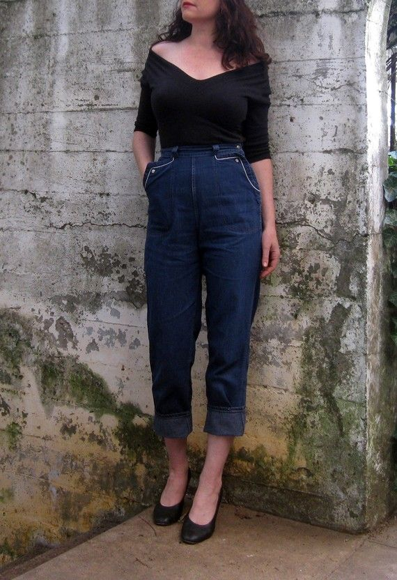 Pin By Casey Maura On Inspiration 1950s Denim Women High Waisted Denim Clothes