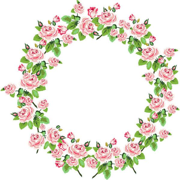 Shabby Chic Rose Digital Wreath. Clip art for Scrapbooking ...