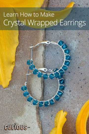 Learn how to make crystal wrapped earrings with this jewelry tutorial. This lesson teaches how to turn plain hoops into elegant earrings with wire and crystals.