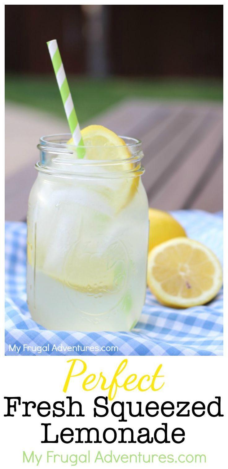 Perfect Homemade Fresh Squeezed Lemonade Recipe - My Frugal Adventures #freshsqueezedlemonade