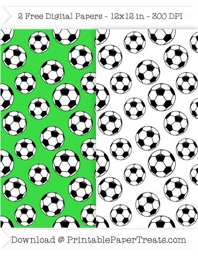 Free Printable Soccer Ball Digital Papers