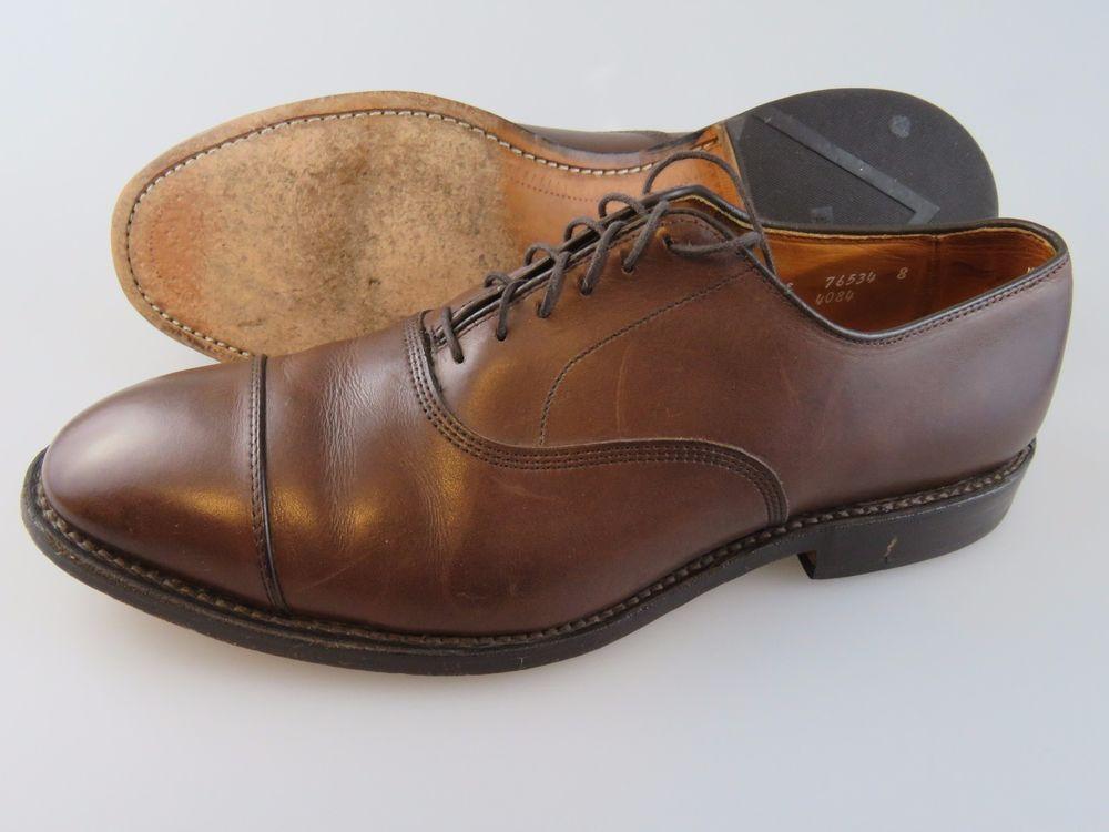 8ffdf2d168f288 ALLEN EDMONDS Park Avenue Cap Toe Brown Leather Oxford Shoes Men s 10.5 E  Wide  AllenEdmonds  Oxfords
