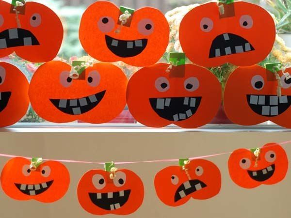 Manualidades halloween infantil ideas f ciles para ni os - Calabazas para halloween manualidades ...