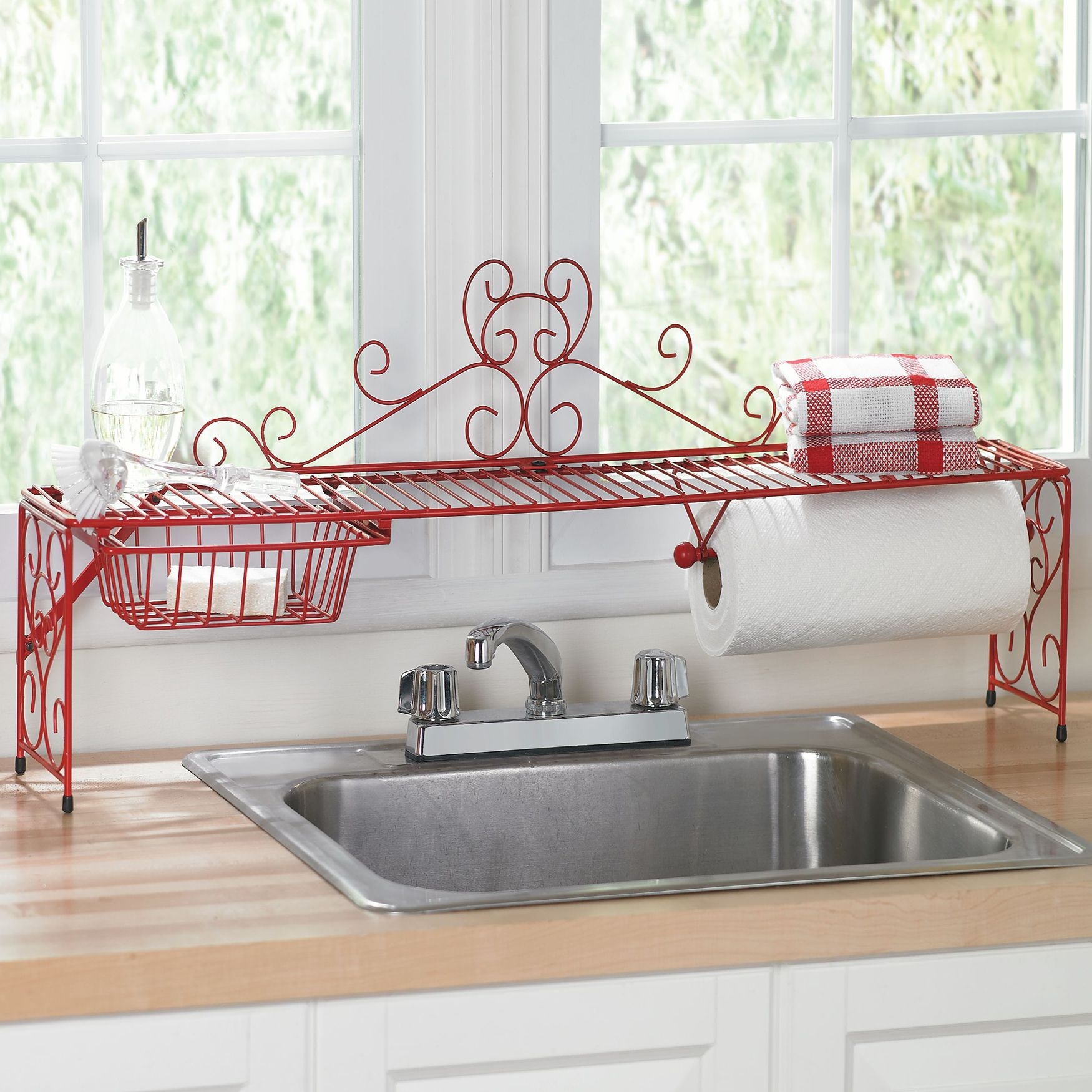 Website Photo Gallery Examples Scrolling Over the Sink Shelf Kitchen Organizers Brylanehome