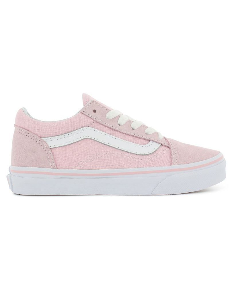 3044761b4e New Vans Kids Old Skool Chalk Pink White Lace Up Suede Sneaker Shoes Size 3   VANS
