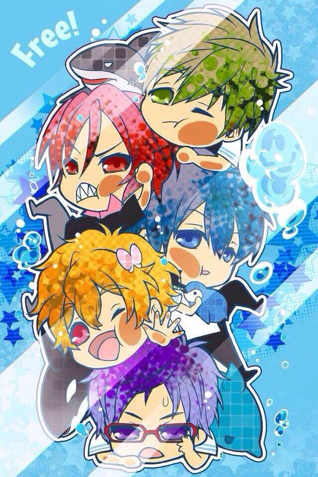 Aww Chibi Iwatobi Swim Club Free Anime Anime Anime Wallpaper Free chibi anime wallpaper