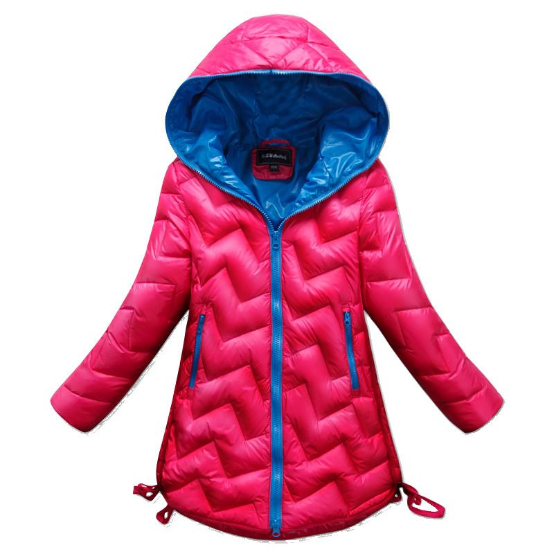 Childrens Girl 80 down winter jackets kids coat long model winter ...