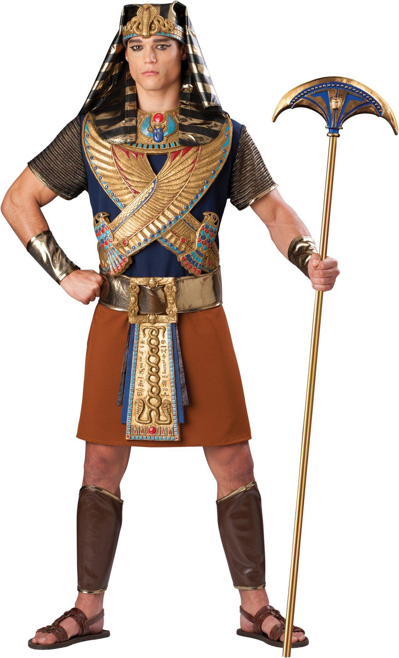 e05c96c4 Egyptian Pharaoh - Adult Costume   Makeup & stuff   Pharaoh costume ...