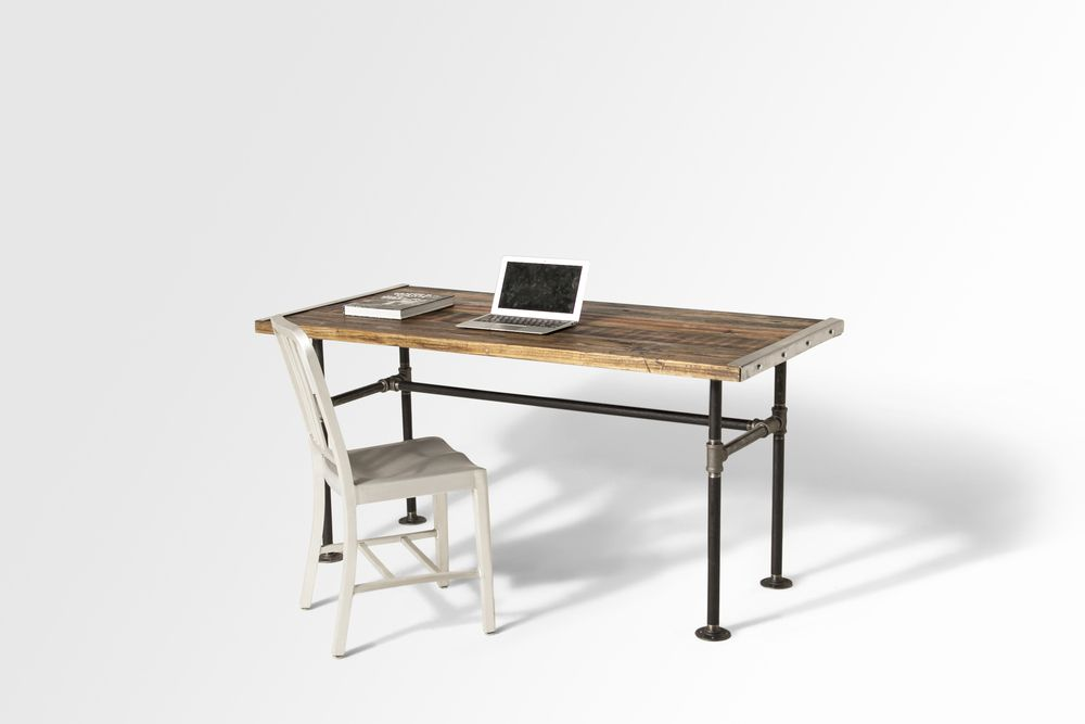 Made of reclaimed wood and black iron pipes The Lupita Desk is a must in  any modern home.  Offered in 4 different sizes and 3 finishing options, we've made sure to  satisfied the needs of every home or office.  Every single one is handmade and made to order -- our estimated lead time  is 3-5 weeks from the day that the order is placed.  LOCAL DELIVERY IN NYC METROPOLITAN AREA  *Contact usfor custom orders.