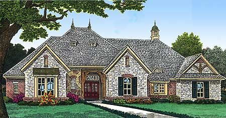 Plan 48348fm Old World Allure In 2021 French Country House Plans Dream House Plans European House Plans