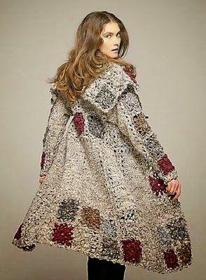 crochelinhasagulhas: Casaco em crochê de square | CROCHET CLOTHING