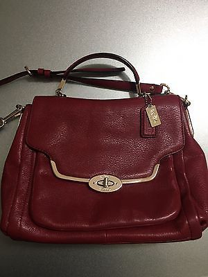 Pre Owned Coach Madison Small Sa Satchel Crossbody Handbag Ebay