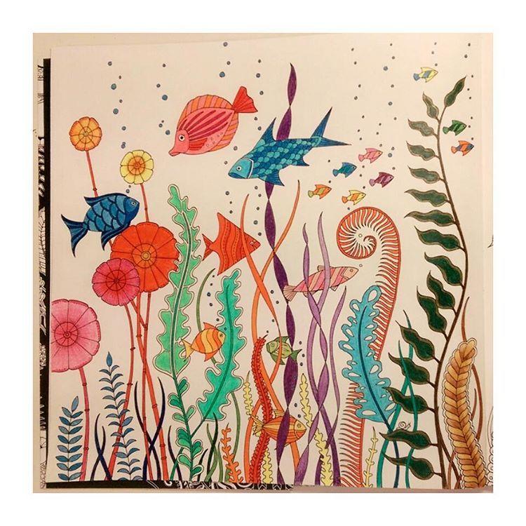 #迷幻海洋 #喬漢娜貝斯福 #著色畫 #lostocean #johannabasford #coloring