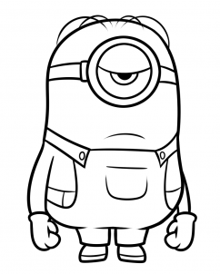 stuart minion coloring pages | how to draw stuart from minions step 8 | Minion drawing ...