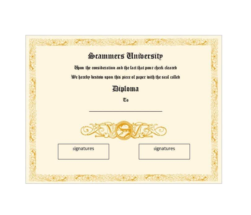12 College Certificate Templates Free Printable Word