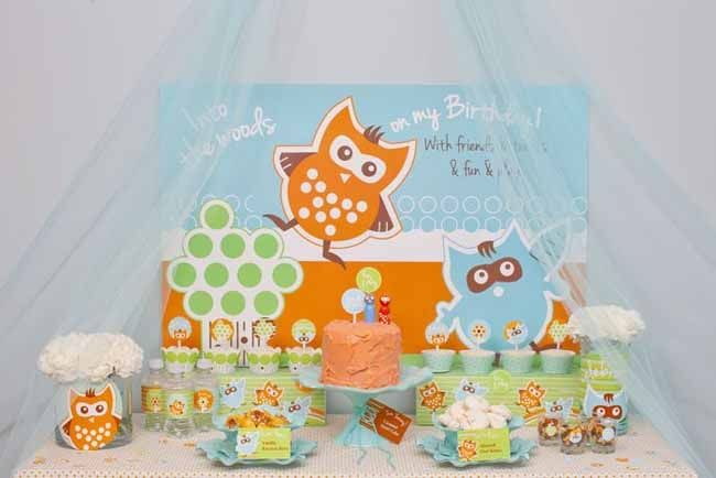 Woodland Owl First Birthday