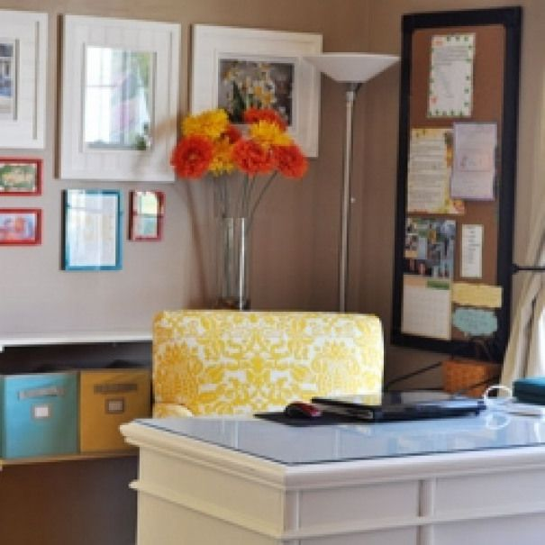 Home Daycare Design Ideas:  Home Office. Desk Space In My In- Home Daycare Room