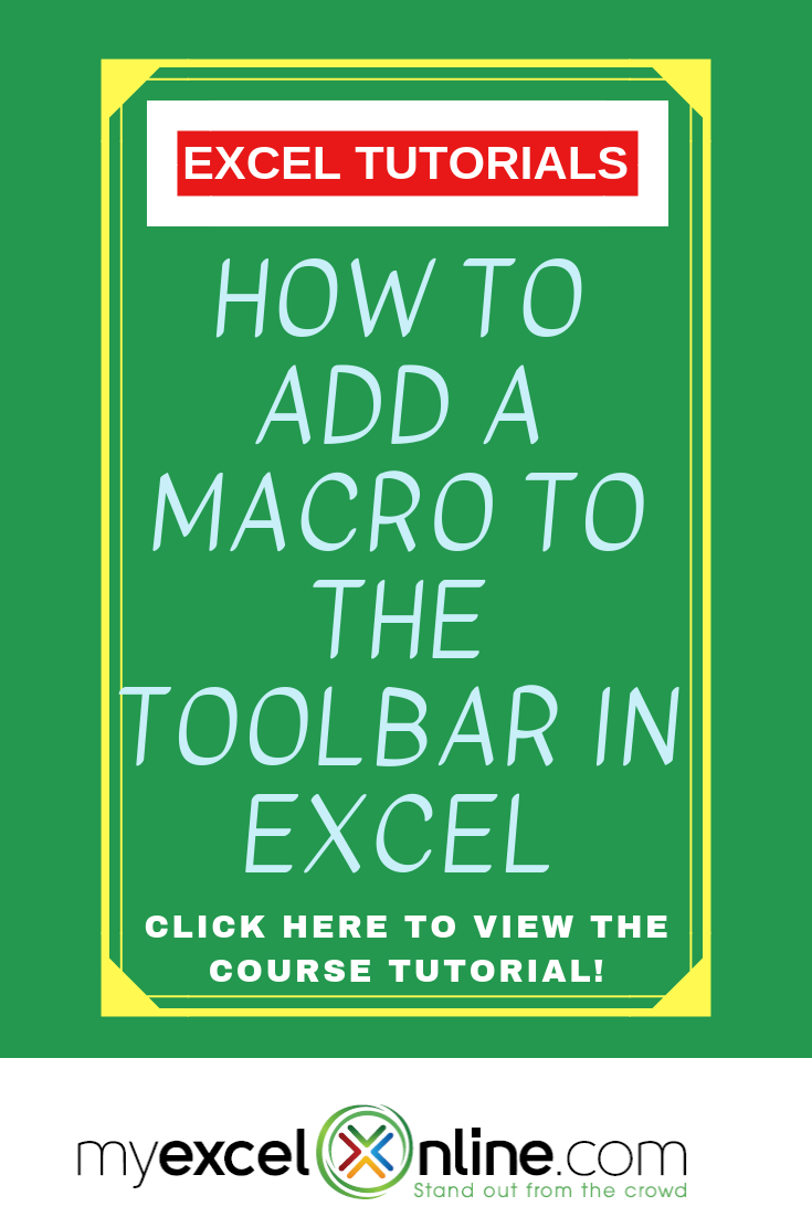 How to Add a Macro to the Toolbar in Excel | ideas