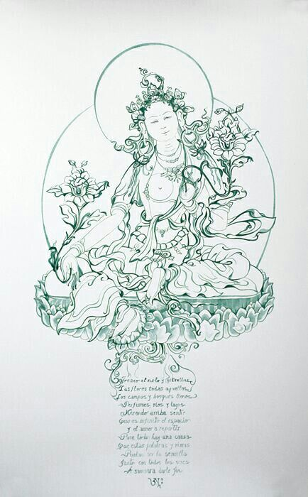 Drawing The Line Tattoos Tara Mccabe : Green tara pinterest tibetan art