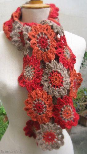 Japanese flower garden shawl motif -- I guess I'd better make its own board LOL