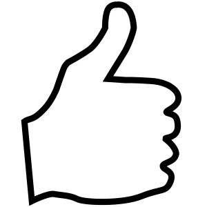 Thumbs Up By Www Savanaprice Com Thumbs Up Facing Right Free Clip Art Clip Art Colouring Pages