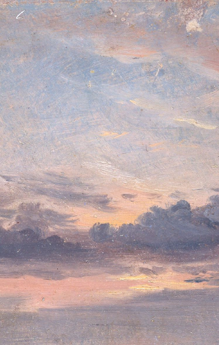 A Cloud Study Sunset John Constable Aesthetic Painting