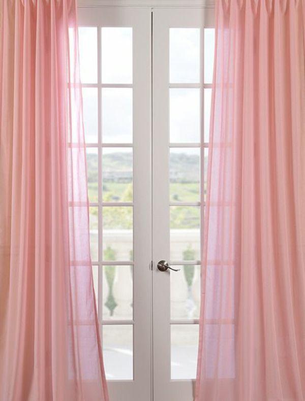gardinen rosa gardine vorhangstoffe wohnzimmer gardinen modern