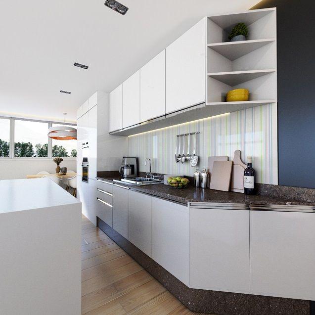Kitchen Design Rendering: Blender Architecture