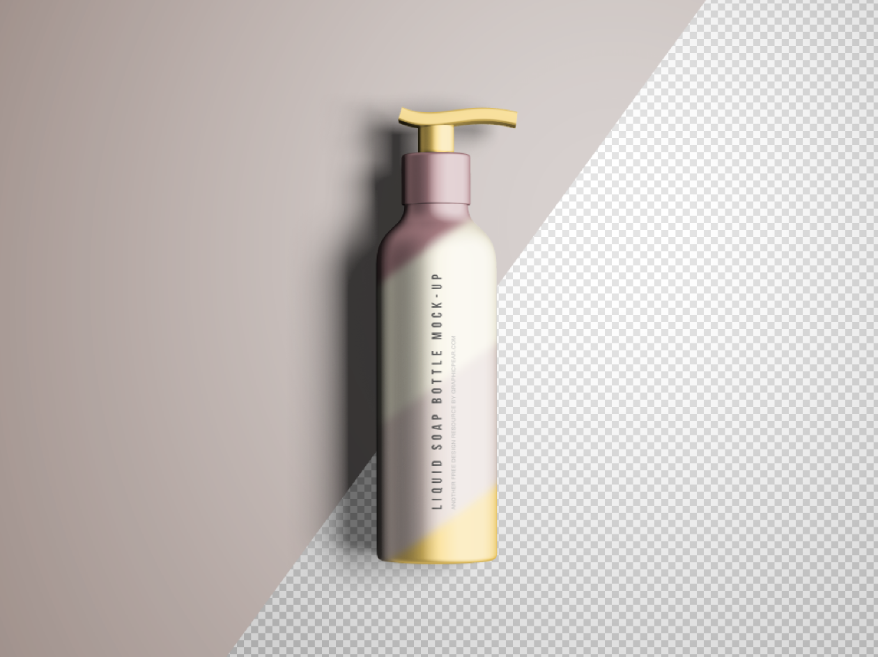 Advanced Free Liquid Soap Bottle Mockup With Editable Lights Shadows And Background Colors Few Clicks To Showcase Your Package Bottle Mockup Soap Liquid Soap