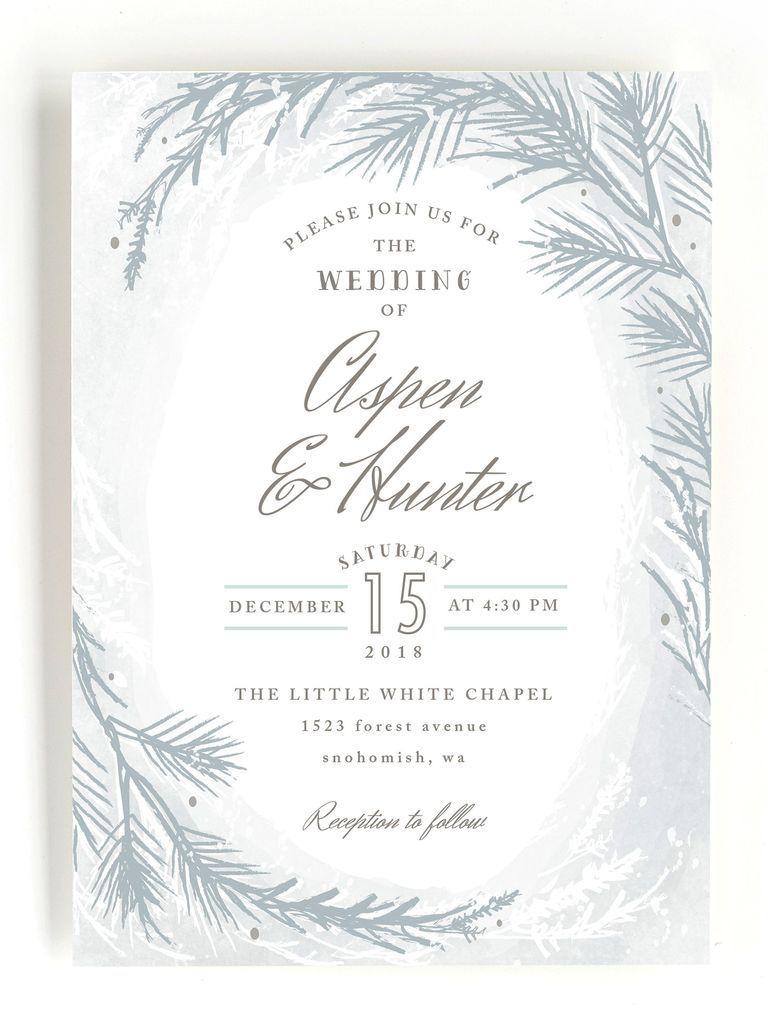 35 elegante Einladungen für eine Winter-Märchenland-Hochzeit   – Julies party