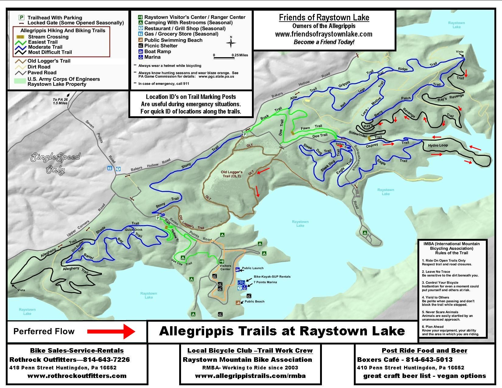 map of raystown lake Map Allegrippis Trails Lake Trail Army Corps Of Engineers map of raystown lake