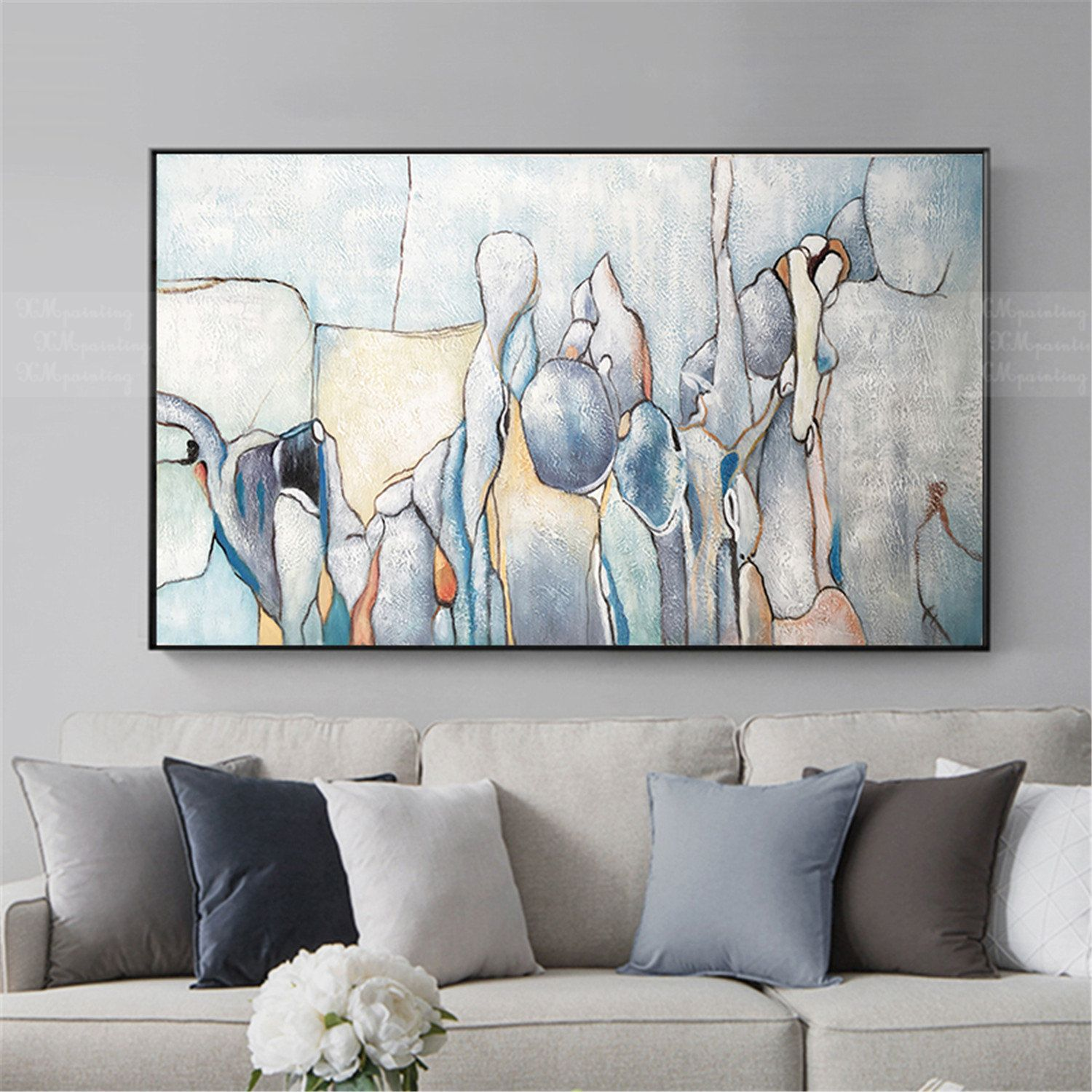 Abstract Painting Acrylic Canvas Wall Art Pictures For Living Room Wall Decor Home Decor B Abstract Painting Acrylic Abstract Canvas Painting Abstract Painting