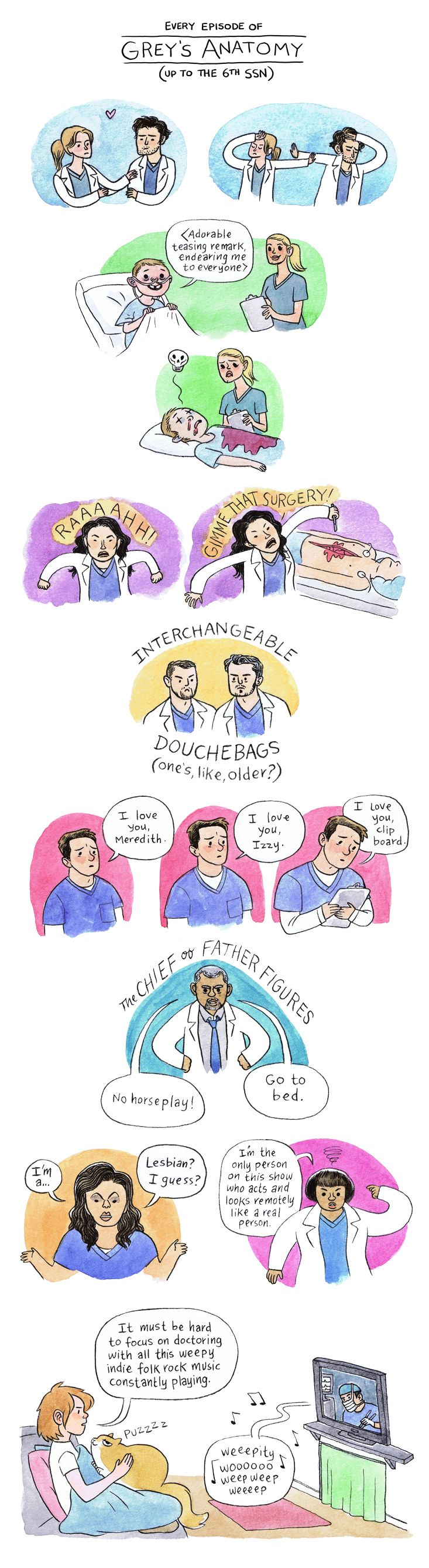 Lucy Knisley - Grey\'s Anatomy... I LOVE GREYS BUT THIS IS TOO FUNNY ...