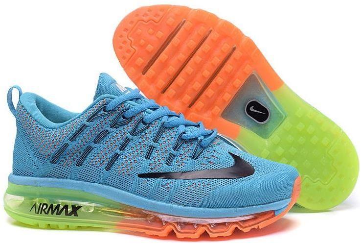 d14d4a10738 Flyknit Air Max 2016 Blue Orange Green Black