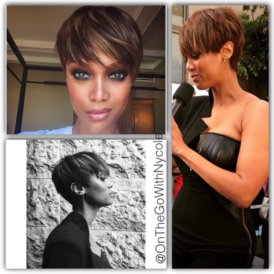 Tyra Banks Big Chop  Tyra banks short hair, Current hair styles