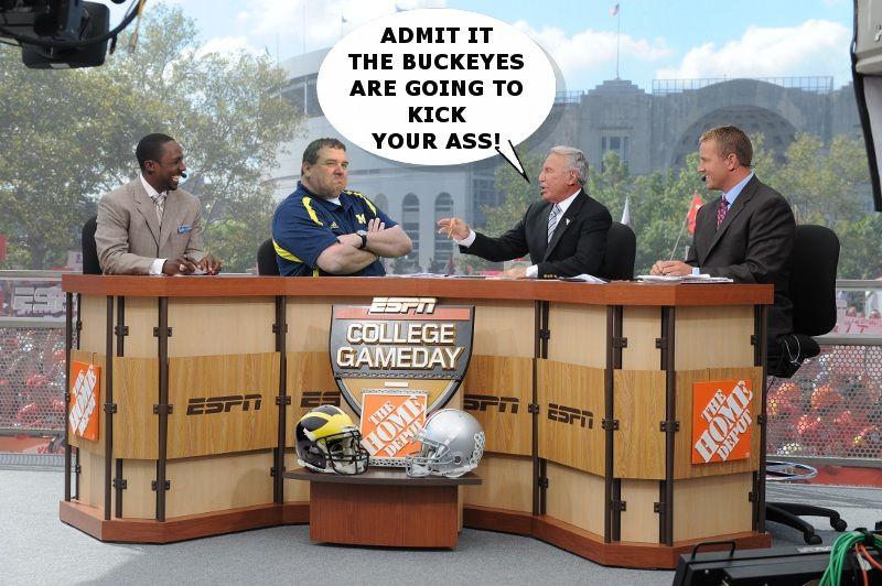 College Game Day with Brady Hoke Ohio vs michigan