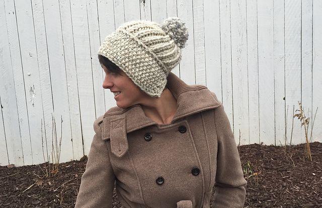 Free Ravelry Natasha Slouchy Hat Pattern By Marissa Post Head