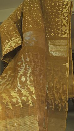 Golden Shade  ( zari work ) Jamdani from MIDRAAR