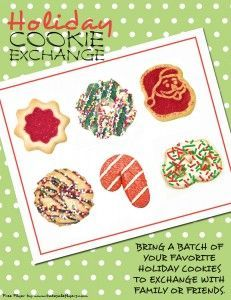 Holiday Cookie Exchange Invitation Template Free Cookie Swap