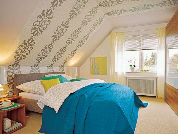 wandgestaltung schlafzimmer dachschräge | Traumhafte ...