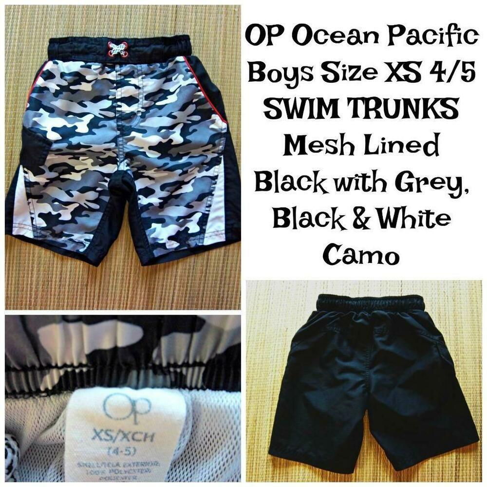55c063d5d8 OP Ocean Pacific Boys SWIM Trunks Size XS (4-5) 19-22