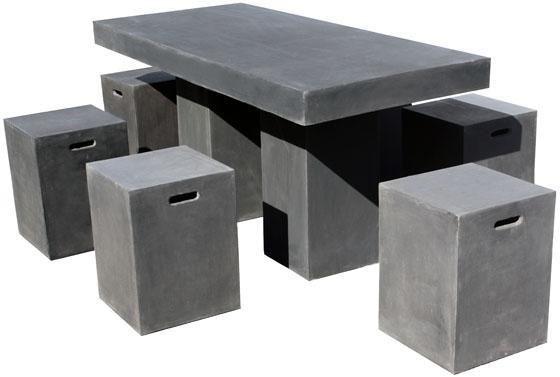 Beau Lightweight Concrete Outdoor Furniture.