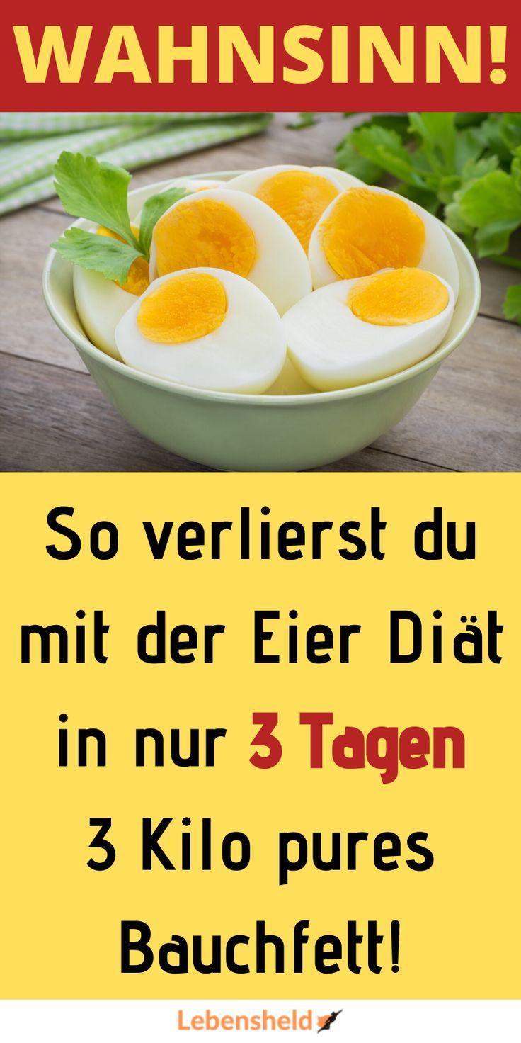 Durch Eier in nur 3 Tagen Bauchfett verlieren