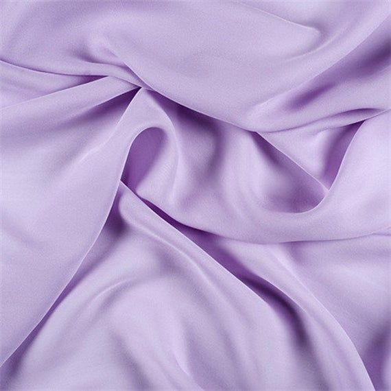 Lilac Silk Double Georgette, Fabric By The Yard